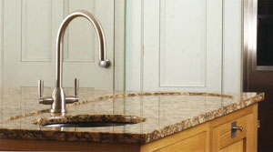 Granite recessed sink